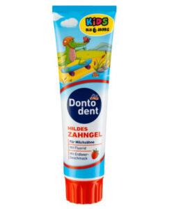 Kem đánh răng Dontodent Kids hương dâu cho trẻ em, 100ml - mẫu mới