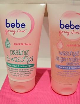 Sữa rửa mặt kèm tẩy da chết Bebe Young Care Quick & Clean Peeling & Waschgel
