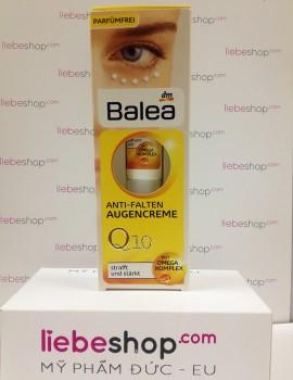 Kem dưỡng da chống lão hoá, giảm nếp nhăn vùng mắt Balea Anti - Falten Augencreme Q10 15ml