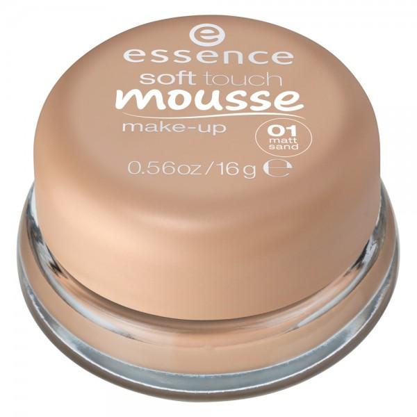 Phấn tươi Essence soft touch mousse make-up 01 matt sand – Hàng xách tay Đức