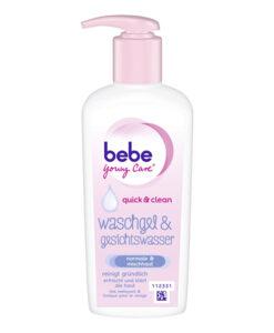 Sữa rửa mặt bebe Young Care Waschgel & Gesichtswasser - kiêm nước hoa hồng 2in1, 200ml