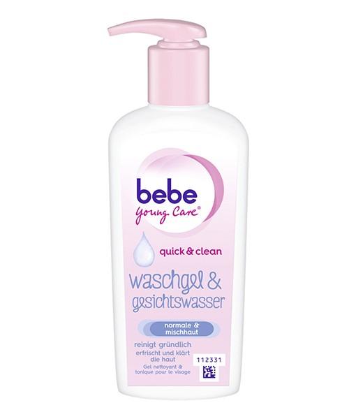 Sữa rửa mặt bebe Young Care Waschgel & Gesichtswasser – kiêm nước hoa hồng 2in1, 200ml