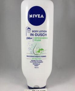 Kem xả dưỡng thể Nivea In-dusch Body Lotion cho da thường, 400 ml