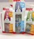 Bình sữa cổ rộng NUK First Choice nhựa PP núm Silicone, 150 và 300 ml