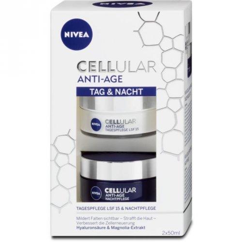 Kem dưỡng da chống lão hóa Nivea Cellular ANTI-AGE bộ ngày đêm, 100 ml
