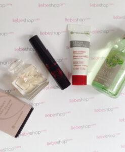 Bộ sản phẩm quà tặng Yves Rocher gồm 4 món: Nước hoa + Mascara + Serum dưỡng da + Sữa tắm nước hoa