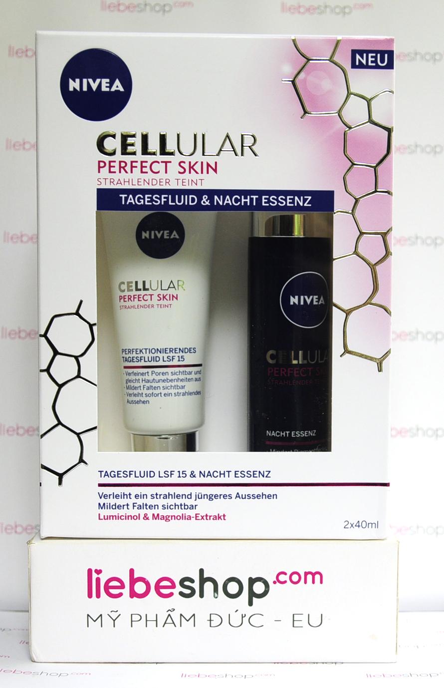 Kem dưỡng da ngày đêm Nivea CELLular Perfect Skin Đức