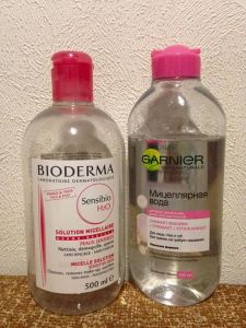 So sánh nước tẩy trang Bioderma và Garnier