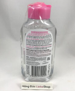 Nước tẩy trang Garnier Mizellen da thường và da nhạy cảm, 125 ml
