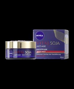 Kem dưỡng da chống lão hóa Nivea Vital Soja ANTI-AGE ban đêm, 50 ml