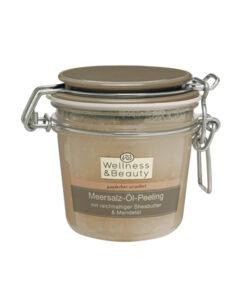 Tẩy da chết Wellness & Beauty Meersalz-Öl-Peeling - Muối biển, bơ hạt mỡ, dầu hạnh nhân, 300 ml