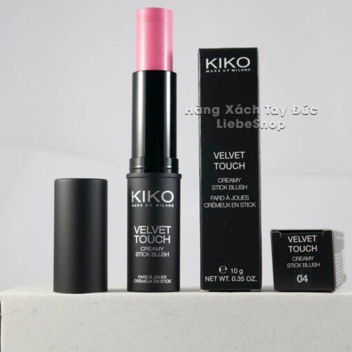 Phấn má hồng dạng thỏi KIKO VELVET TOUCH CREAMY STICK BLUSH 04 - Hot Pink, 10 Gr