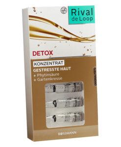 Rival de Loop Detox Konzentrat - tinh chất căng da, giải độc và làm sáng mịn da, 7 x 2 ml