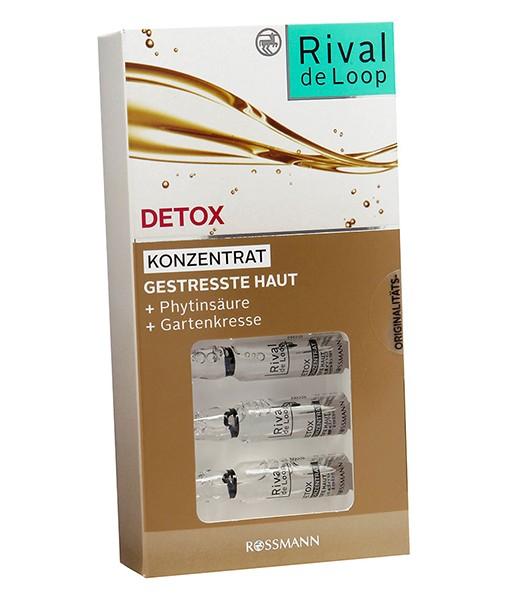 Rival de Loop Detox Konzentrat – tinh chất căng da, giải độc và làm sáng mịn da, 7 x 2 ml