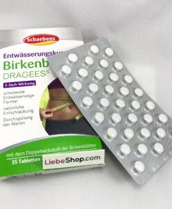 Thuốc giảm cân Schaebens Birkenblätter Dragees, 35 viên / hộp