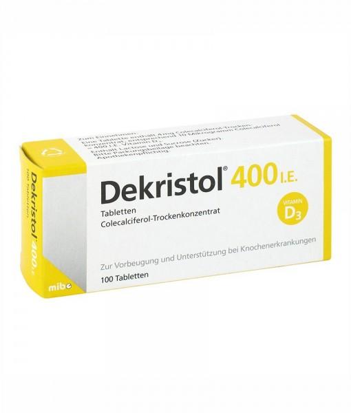 Dekristol 400 I.E bổ sung Vitamin D3 chống còi xương, loãng xương, 100 viên