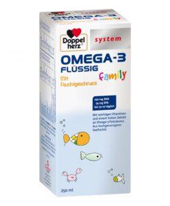 Siro OMEGA-3 FLÜSSIG Family bổ sung DHA, EPA và Vitamin cho trẻ em và người lớn, 250ml - Mẫu mới