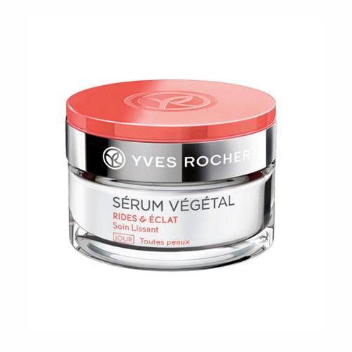 Kem dưỡng da Yves Rocher Serum Vegetal RIDES & ECLAT ban ngày – chống nếp nhăn & sáng mịn da, 50ml
