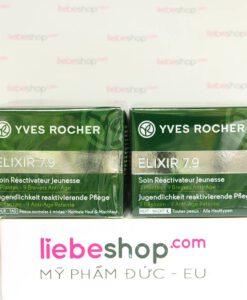 Hàng xách tay Đức - Kem dưỡng da Yves Rocher Elixir 7.9 Soin Réactivateur Jeunesse Nuit - Toutes peaux, 50ml