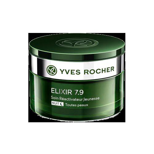 Kem dưỡng da Yves Rocher Elixir 7.9 Soin Réactivateur Jeunesse Nuit – Toutes peaux, 50ml