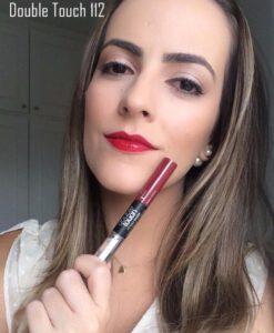 Son KIKO Double Touch Lipstick 112 Cherry Red