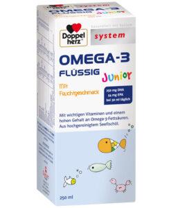 Siro OMEGA-3 FLÜSSIG Junior bổ sung DHA, EPA và Vitamin cho trẻ em và người lớn, 250ml