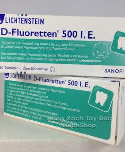 Vitamin D-Fluoretten 500 I.E bổ sung D3 cho trẻ sơ sinh và trẻ nhỏ, 90 viên
