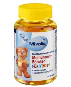 Kẹo vitamin trẻ em Mivolis Multivitamin-Bärchen, 60 viên
