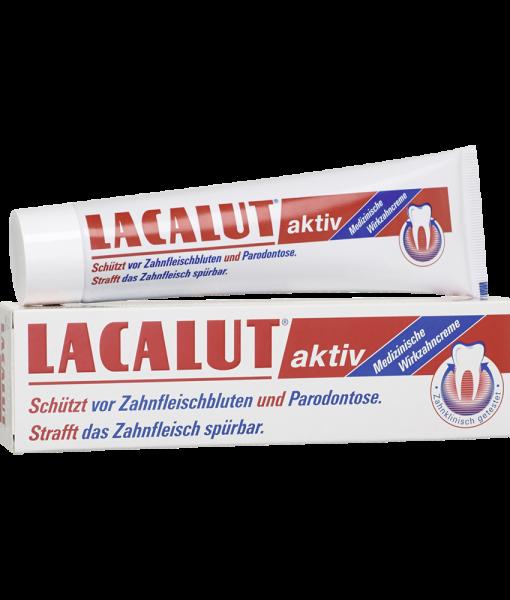 Kem đánh răng Lacalut Aktiv trị viêm nướu, chảy máu chân răng, 100ml