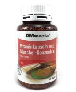 Viên uống bổ sụn khớp chiết xuất từ vẹm xanh Sovita Active Vitaminkapseln mit Muschelextrakt, 180 viên