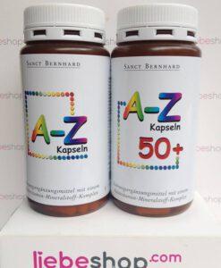 Vitamin tổng hợp A-Z Kapseln, 150 viên - bổ sung 24 vitamin và khoáng chất