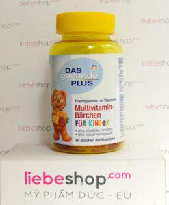 Kẹo vitamin trẻ em DAS gesunde PLUS Multivitamin-Bärchen, 60 viên