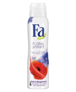 Xịt khử mùi Fa Floral Protect Mohn und blauglöckchen Deospray, 150ml