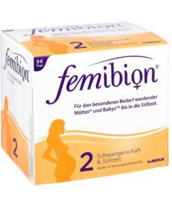 Vitamin tổng hợp cho bà bầu FEMIBION 2 Schwangerschaft & Stillzeit - cho bà bầu từ tuần 13 và sau khi sinh con, 2 x 96 viên
