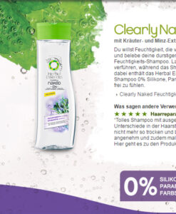 Dầu gội Herbal Essences Clearly Naked Shampoo Feuchtigkeit
