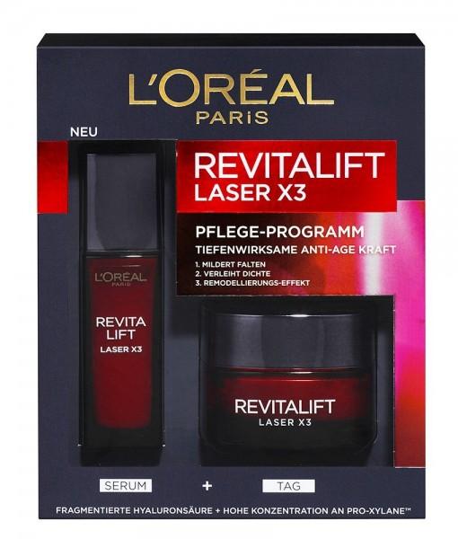 Bộ sản phẩm Loreal Revitalift Laser X3 – serum & kem dưỡng ban ngày chống lão hóa