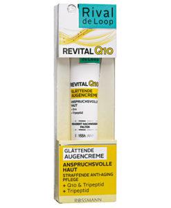Kem dưỡng da vùng mắt Rival de Loop Revital Q10 Glätende Augencreme, 15ml