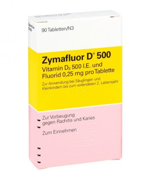 Zymaflour D500 bổ sung vitamin D3 cho trẻ sơ sinh và trẻ nhỏ, 90 viên