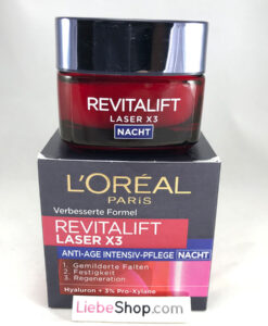 Kem dưỡng da ban đêm Loreal Revitalift Laser X3 Nacht, 50ml