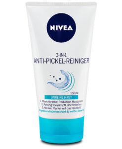 Sữa rửa mặt NIVEA 3in1 Anti-Pickel Reiniger: Rửa mặt + Tẩy da chết + Mặt nạ, 150 ml