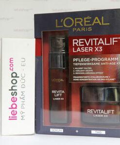 Loreal Revitalift Laser X3 - serum & kem dưỡng ban ngày chống lão hóa