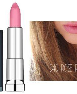 Maybelline Color Sensational Matte Lipstick 940 Rose Rush - Hàng xách tay Đức