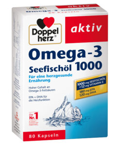 Omega-3 Seefischöl 1000 Doppelherz aktiv - Viên uống dầu cá + Vitamin E