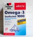 Omega-3 Seefischöl 1000 Doppelherz aktiv – Viên uống dầu cá + Vitamin E  – Hàng xách tay Đức