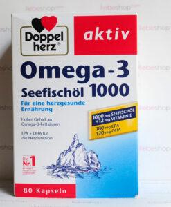 Omega-3 Seefischöl 1000 Doppelherz aktiv - Viên uống dầu cá + Vitamin E - Hàng xách tay Đức