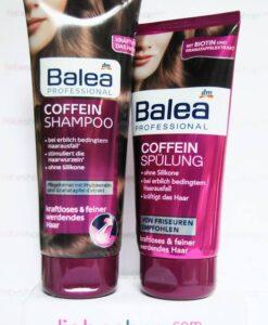 Bộ gội xả Balea Professional Coffein làm dày tóc hàng xách tay Đức