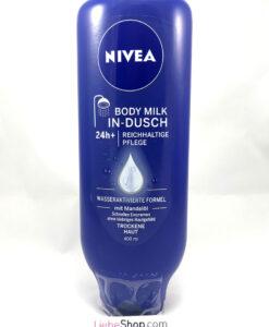 Kem xả dưỡng thể Nivea In-dusch Body Milk cho da khô, 400 ml