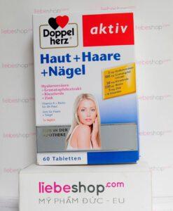 Doppelherz aktiv Haut + Haare + Nägel, 60 viên - Hàng xách tay Đức