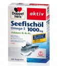 Omega-3 Seefischöl 1000mg Doppelherz aktiv - Viên uống dầu cá + Folsäure + B1 + B6 + B12, 60 viên