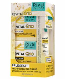 Bộ sản phẩm Rival de Loop Revital Q10 kem dưỡng ngày đêm + kem dưỡng vùng mắt chống lão hóa